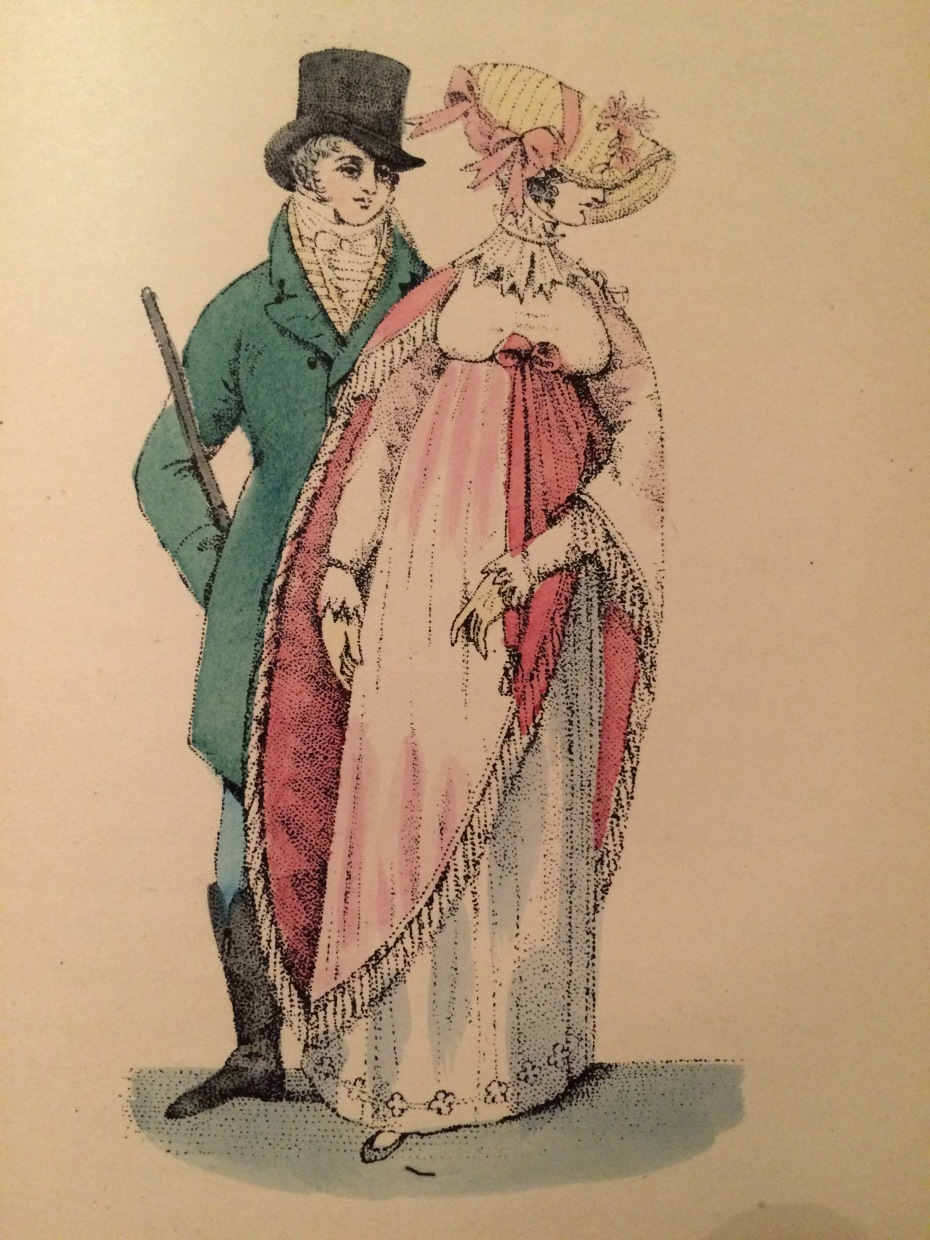 Lady and Gentleman in Regency fashions from 1807